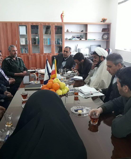 جلسه بسیج دانشجویی شهرستان زرند با حضور جناب آقای سرهنگ کردی و روسای دانشگاههای این شهر